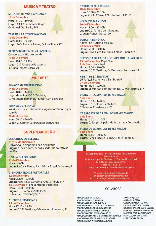 Teatinos en Navidad 2014